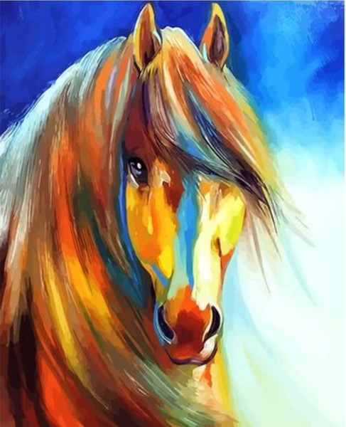 Animal Horse Diy Paint By Numbers Kits Uk ZXQ2910