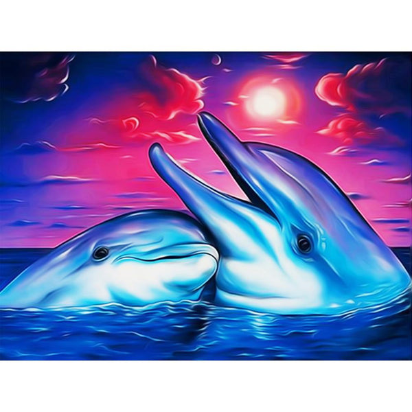 Dolphin Diy Paint By Numbers Kits Uk QFA90140