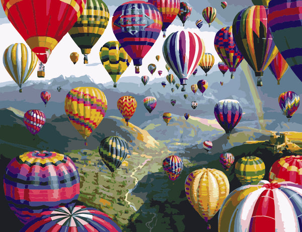 Hot Air Balloon Diy Paint By Numbers Kits Uk ZXE393