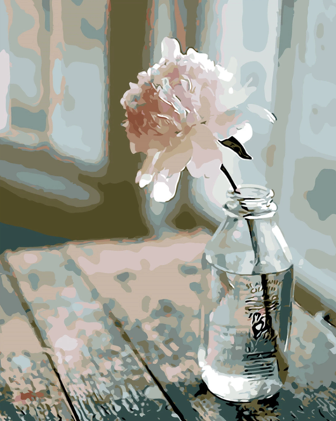 Flower In Bottle Diy Paint By Numbers Uk VM90301