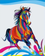 Animal Horse Diy Paint By Numbers Kits Uk VM85054