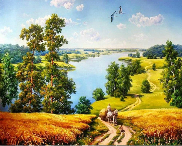 Landscape Nature Lake Diy Paint By Numbers Kits Uk ZXZ176