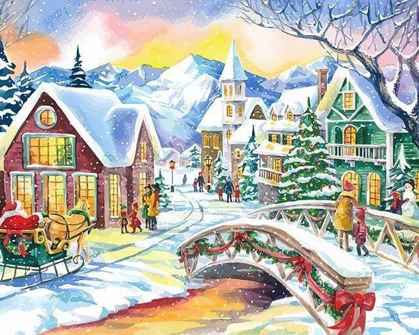 Christmas Diy Paint By Numbers Kits Uk NP1173