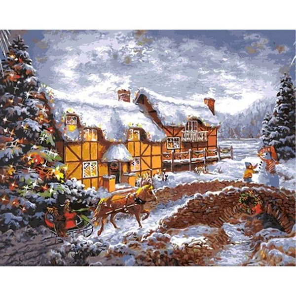 Christmas Diy Paint By Numbers Kits Uk NP1436