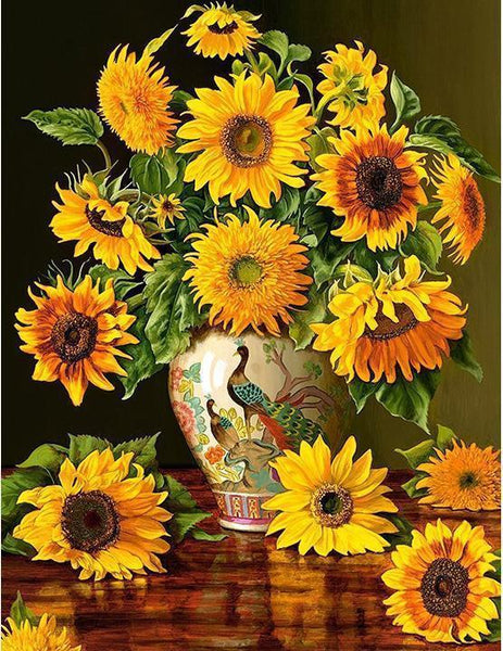 Sunflower Diy Paint By Numbers Kits Uk NP1672