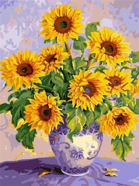 Sunflower Diy Paint By Numbers Kits Uk NP1675