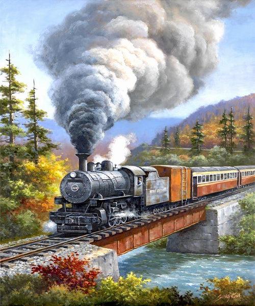 Train Diy Paint By Numbers Kits Uk VM90107