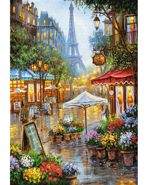 Landscape Eiffel Tower Diy Paint By Numbers Kits Uk VM90769