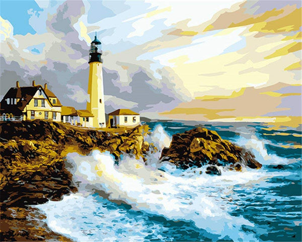 Landscape Lighthouse Paint By Numbers Kits Uk VM91040