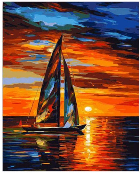 Landscape Boat Paint By Numbers Kits Uk PBN91062