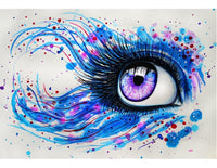 Portrait Eyes Diy Paint By Numbers Kits Uk VM91475