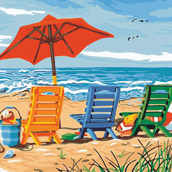 Landscape Beach Diy Paint By Numbers Kits Uk VM92015