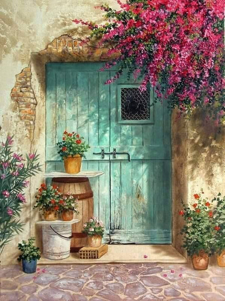 Garden Door Diy Paint By Numbers Kits Uk VM92131