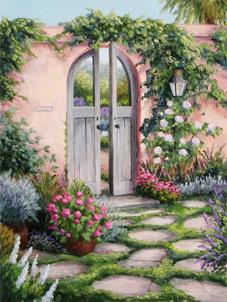 Garden Door Diy Paint By Numbers Kits Uk BN92132