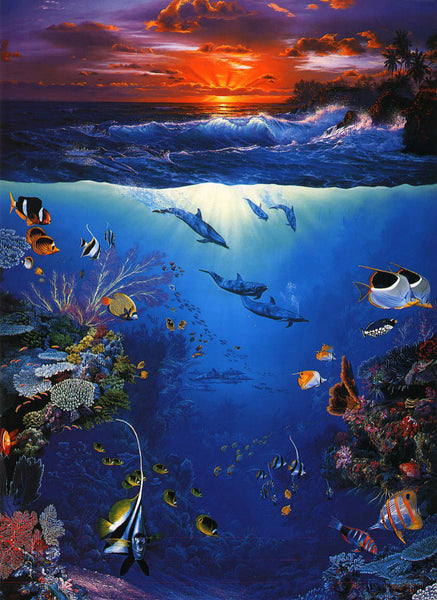 Landscape Under The Sea Diy Paint By Numbers Kits Uk VM92391