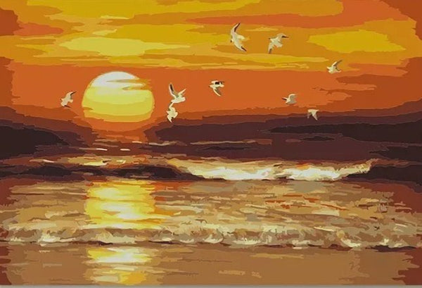 Sunset Landscape Diy Paint By Numbers Kits Uk PBN93094