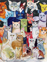 Cats Diy Paint By Numbers Kits UK VM94128