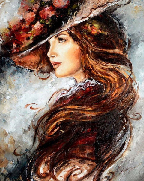 Portrait Woman Diy Paint By Numbers Kits UK VM94504