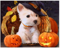 Halloween Dog Paint By Numbers Kits Uk PBN95270