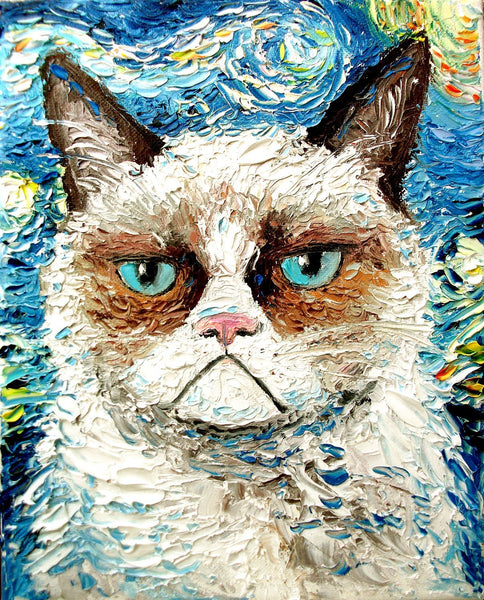 Abstract Cat Diy Paint By Numbers Kits UK VM95529
