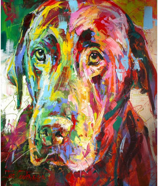 Colorful Dog Diy Paint By Numbers Kits UK VM97841