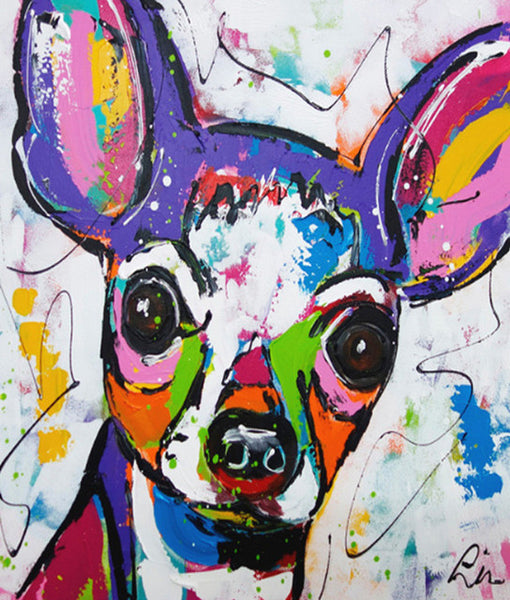 Colorful Dog Diy Paint By Numbers Kits UK PBN97843