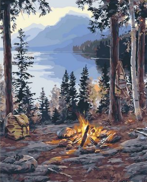 Landscape Mountain Lake Diy Paint By Numbers Kits Uk ZXQ2471