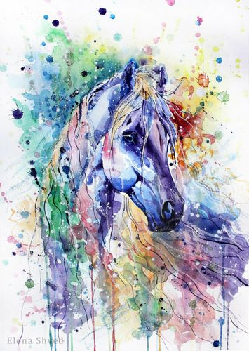 Animal Horse Diy Paint By Numbers Kits Uk VM80029