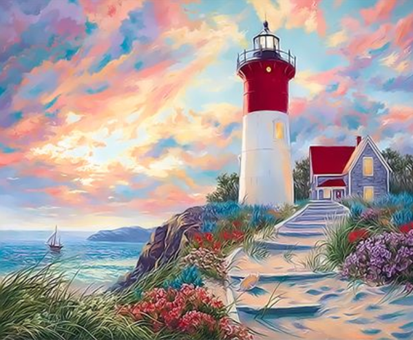 Lighthouse Diy Paint By Numbers Kits UK XQ3293