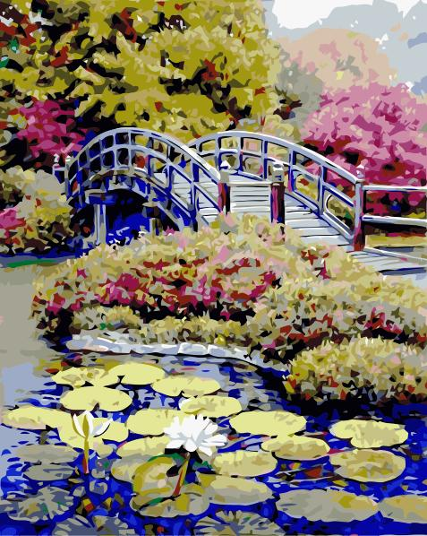 Landscape Bridge Diy Paint By Numbers Kits Uk SY-4050-020