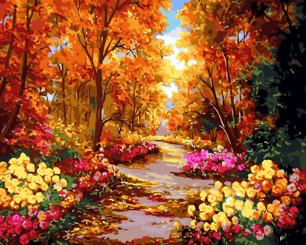 Scenery Flowers Autumn Forest Diy Paint By Numbers Kits Uk SY-4050-059 ZXQ2453
