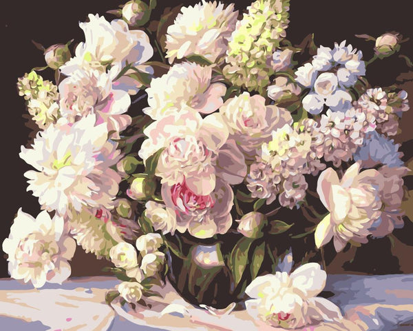 Peony Diy Paint By Numbers Kits Uk SY4050-001
