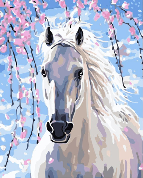 Horse Diy Paint By Numbers Kits Uk WM033