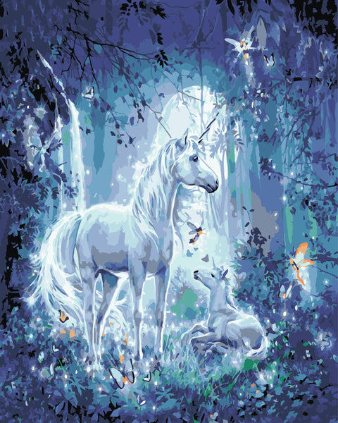 Unicorn Motherhood Diy Paint By Numbers Kits Uk WM-083