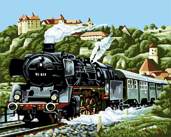 Train Diy Paint By Numbers Kits Uk WM-1310 ZXB224