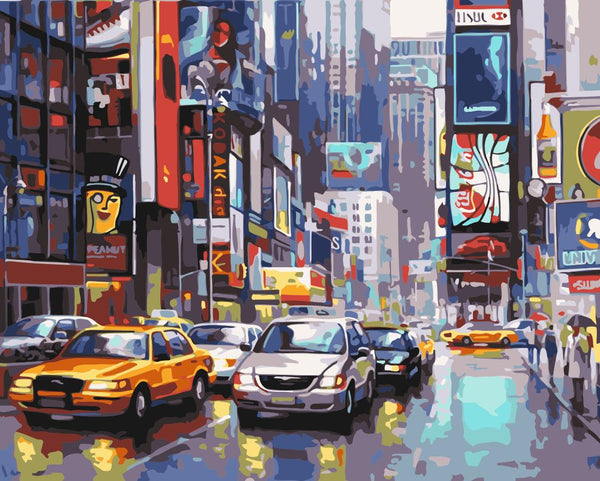 Times Square Diy Paint By Numbers Kits UK WM-1318