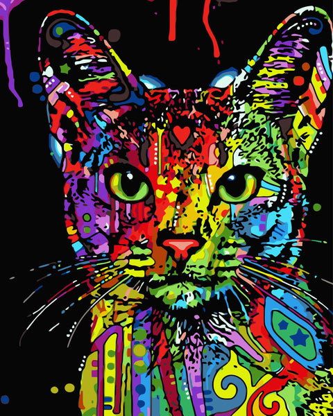 Pop Art Cat Diy Paint By Numbers Kits Uk WM-142