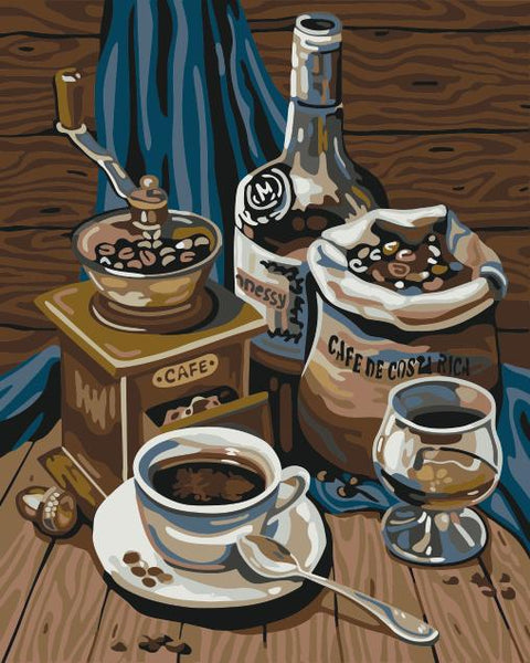Coffee Paint By Numbers Kits UK WM-1433