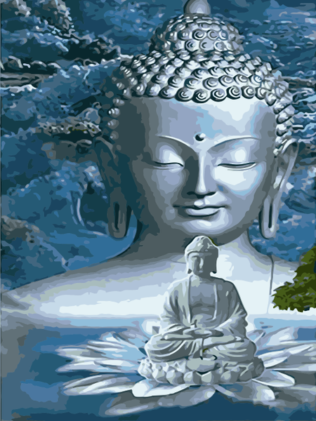 Buddha Diy Paint By Numbers Kits Uk WM-1602