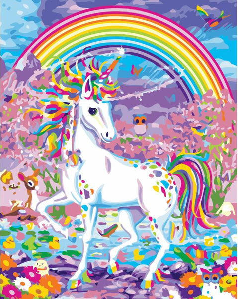 Rainbow Unicorn Diy Paint By Numbers Kits Uk WM-167