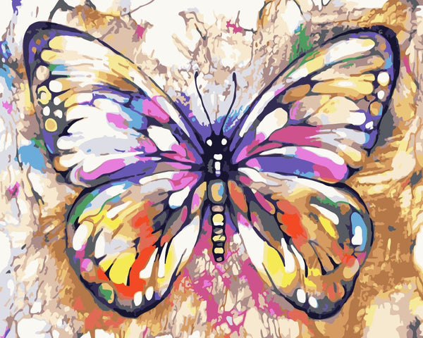 Butterfly Diy Paint By Numbers Kits Uk WM-1737