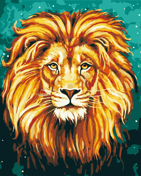 Lion Diy Paint By Numbers Kits Uk WM-272