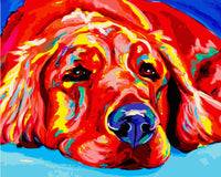 Red Dog Diy Paint By Numbers Kits Uk WM-304