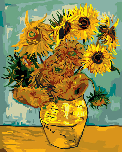 Van Gogh Sunflower Diy Paint By Numbers Kits Uk SY-4050-008