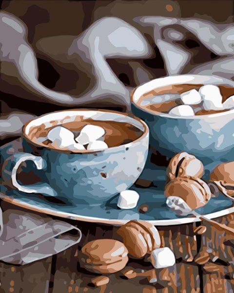 Coffee Paint By Numbers Kits UK WM-344