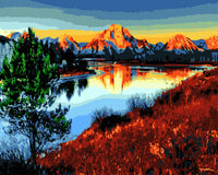 Scenery Mountain Lake Diy Paint By Numbers Kits Uk WM-348