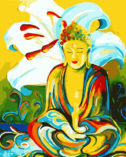 Buddha Diy Paint By Numbers Kits Uk WM-360