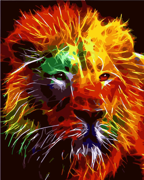 Lion Diy Paint By Numbers Kits Uk WM-420