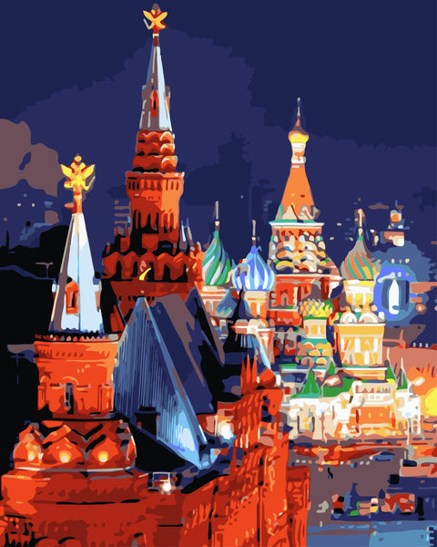 Moscow Diy Paint By Numbers Kits UK Wm-475