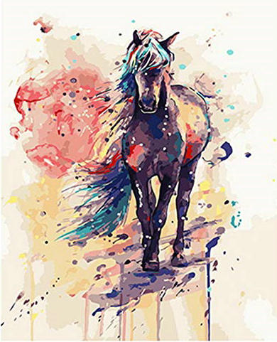 Horse Diy Paint By Numbers Kits Uk WM510